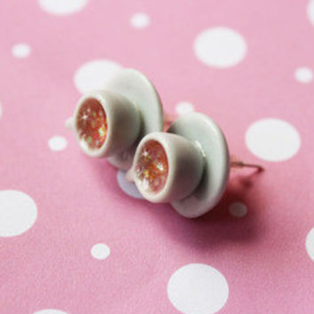 Tea cup Stud Earrings
