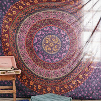 MyNelo Large Hippie Tapestry, Hippy Mandala Bohemian Tapestries, Indian Dorm Decor, Psychedelic Tapestry Wall Hanging Ethnic Decorative Urban Tapestry (90x90 inches) (Multi Color)