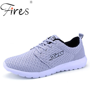 2016 New Running Shoes man Sports Shoe Sneakers Lace Up Breathable Mesh Spring Trendly  flats Shoe Adult sneakers zapatillas