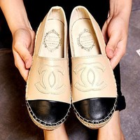 Chanel Fashion Canvas Espadrilles Shoes