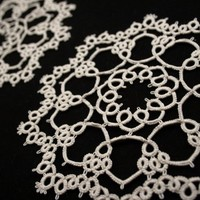 Boulders - A Pair of Small Tatted Doilies