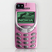 OLD NOKIA Pink iPhone Case by Simone Morana Cyla