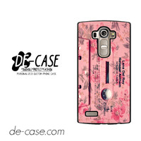 Lana Del Rey Pink Tape For LG G4 Case Phone Case Gift Present YO
