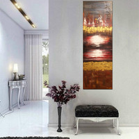 ART Deco Sunset Horizon Abstract Acrylic Painting Sun Contemporary Original Modern Nature Landscape Art Collections By Kathleen Artist PRO
