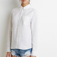 Linen Button-Collar Shirt