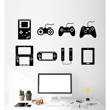 Vinyl Wall Decal Video Game Gamer Console Joystick Room Decor Stickers Unique Gift (1823ig)