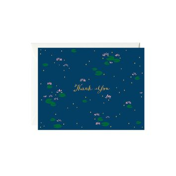 Lotus Thank You Card (Gold Foil)