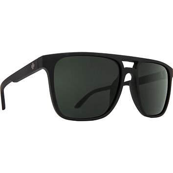 Spy - Czar Soft Matte Black Sunglasses / Happy Gray Green Lenses