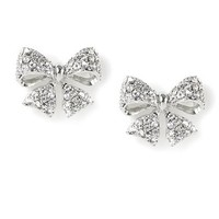 Sparkly Bow Stud Earrings | Claire's
