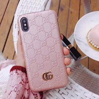 GUCCI Fashion iPhone Samsung Phone Cover Case For iphone 6 6s 6plus 6s-plus 7 7plus iPhone8 iPhone X I
