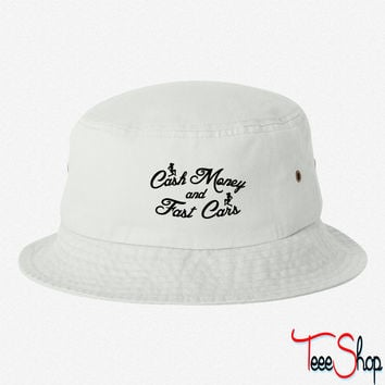 Cash Money and Fast Cars bucket hat