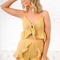 Around Your Town Two Piece Set (Mustard)
