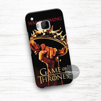 Crown Game Of Thrones War Is Coming  HTC One Case Cover Series