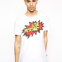 Love Moschino T-Shirt with Pop Logo