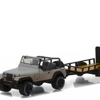 Michonne's Jeep Wrangler YJ&Utility Trailer The Walking Dead 8 1:64
