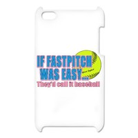Girls Softball iPod Touch Case on CafePress.com