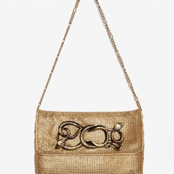 Whiting & Davis Teri Chain Mail Bag