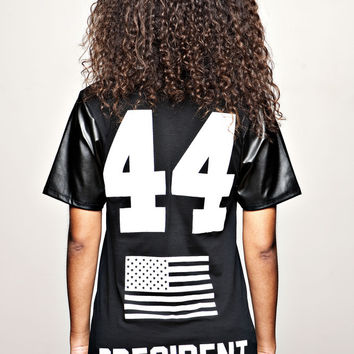 """BARACK OBAMA 44th President T-shirt """"F""""   BBP Web Store  New Collection Saison 2014"""