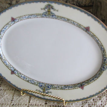 Vintage Noritake Made In Japan, Darby Pattern, Oval Plate, 1920's, Great Gift For A Plate Collector