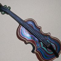 Vintage Wall Decor, Cast Aluminum Violin & Mandolin set