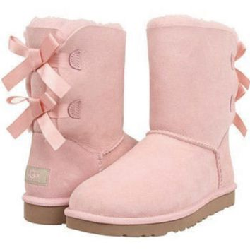 Ugg Pink Bailey Bow Boot
