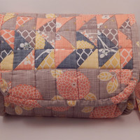Quilted Sling Fall colors Autumn Woods Acorns with matching zipper pouch