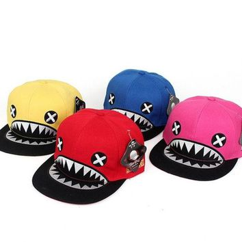 LMFUG3 New Summer Fashion Shark Model Hats Casual Street Hip Hop Baseball Cap 5 Solid Color