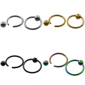 ac DCCKO2Q SUNYIK 1Pc Ball Closure Ring Captive Bead Rings CBR BCR Hoop Stainless Steel Earring Lip Piercing Tragus