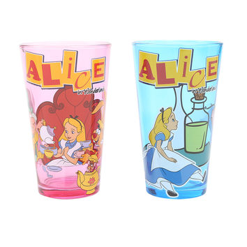 Disney Alice In Wonderland Pint Glass Set