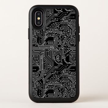 Computer Circuit Board Apple iPhone X Case