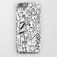 Cat Doodles iPhone & iPod Case by Kate & Co.