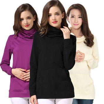 Therese Long-Sleeve Cowl Neck Nursing Top
