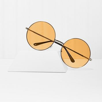 Almost Famous Orange Round Sunglasses