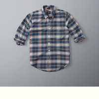 Bleached Plaid Oxford Shirt