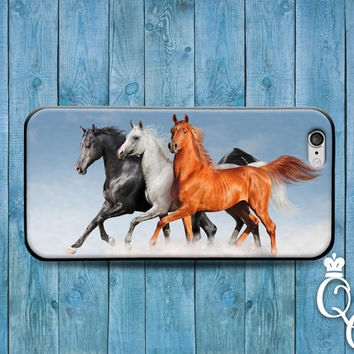 iPhone 4 4s 5 5s 5c 6 6s plus + iPod Touch 4th 5th 6th Generation Fun Cover Cute Horse Custom Artistic Beautiful Animal Clouds Gorgeous Case
