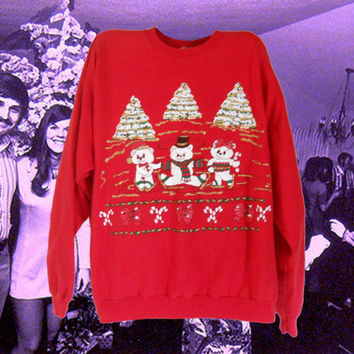 Ugly Christmas Sweater Tacky Christmas Sweater Ugly Christmas Sweatshirt Women Christmas Sweater Holiday Sweater 90s Sweatshirt Ski Sweater