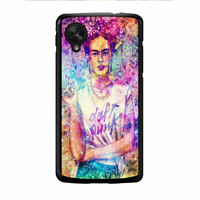 Frida Kahlo Flower Paintings On Galaxy Nebula Nexus 5 Case