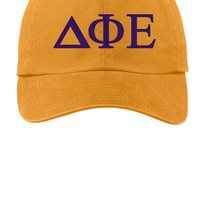 DPhiE / Delta Phi Epsilon / Choose Your Colors / Sorority Cap