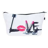 Love make up cosmetic bag