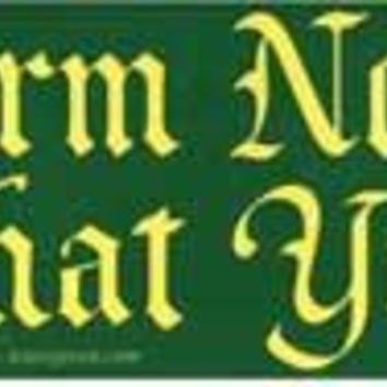 Harm None, Do What Ye Will Bumper Sticker