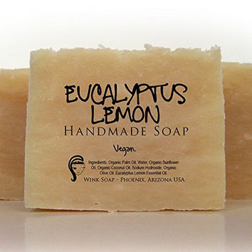 Eucalyptus Lemon Handmade Soap (Vegan, Organic, 100% Natural, Essential Oils)