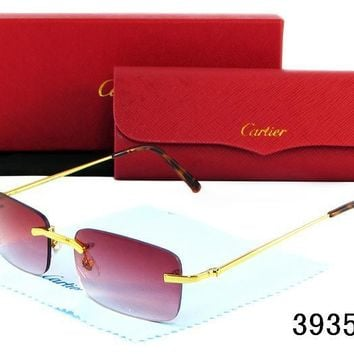 Cartier Women Casual Sun Shades Eyeglasses Glasses Sunglasses