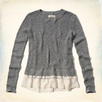 Lace Hem Sweater from Hollister Co.