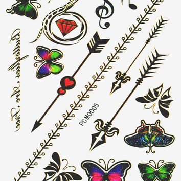 Music Festival Pack Metallic Flash Tattoo