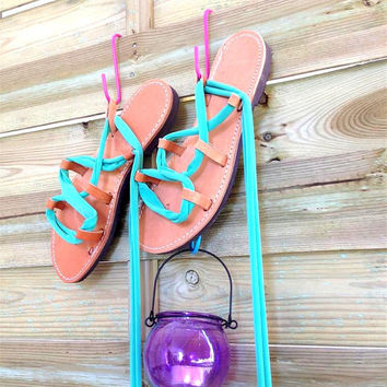 Gladiator Sandals - Cool Mint Jersey