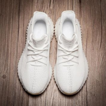 Adidas Women Men Yeezy 550 Boost 350 V2  Fashion Girl Boy Trewnding Personality Leisure Sport Running Shoe Sneakers Full white