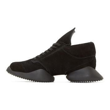 Black Suede Island Sole adidas by Rick Owens Sneakers