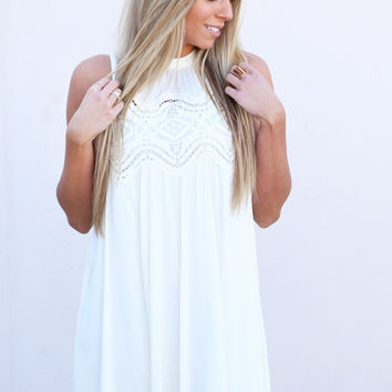Free To Be Me Crochet Dress {Ivory}