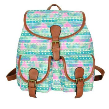 Cute Sweet Tribal Travelling Bag School Bag Canvas Casual Backpack Daypack