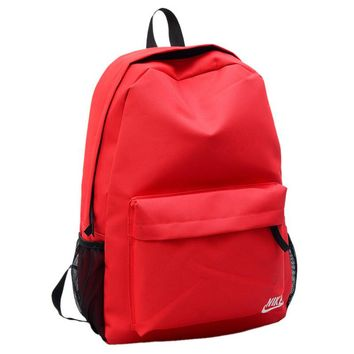 """Nike"" Casual Solid Color Lightweight Fashion Backpacks School Backpack Travel Bag"